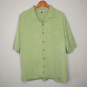 Tommy Bahama 100% Silk Button Down Shirt XL